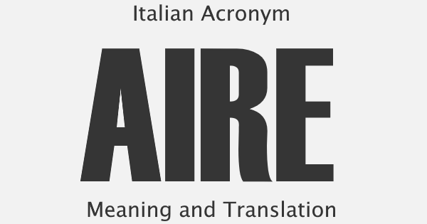 AIRE Acronym Meaning