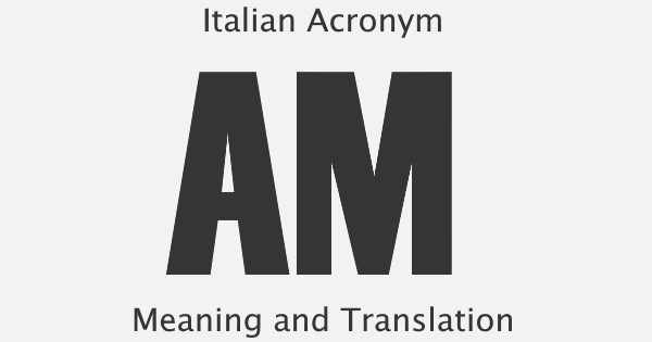 AM Acronym Meaning