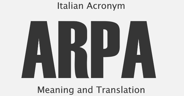 ARPA Acronym Meaning