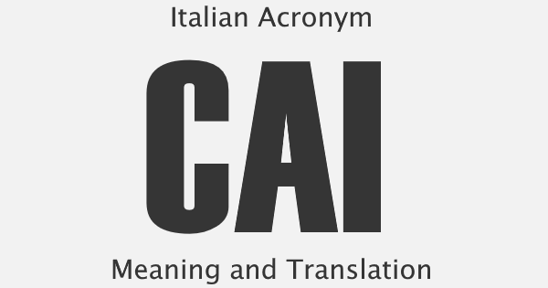 CAI Acronym Meaning