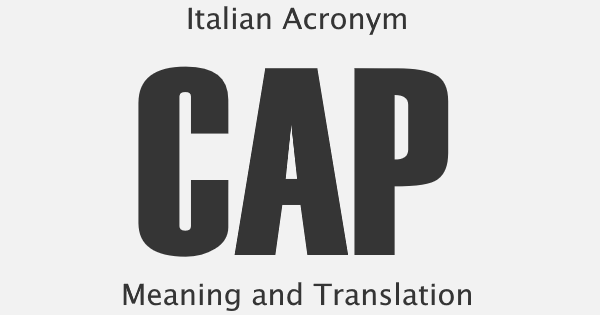 CAP Acronym Meaning
