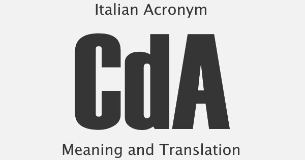 CDA Acronym Meaning
