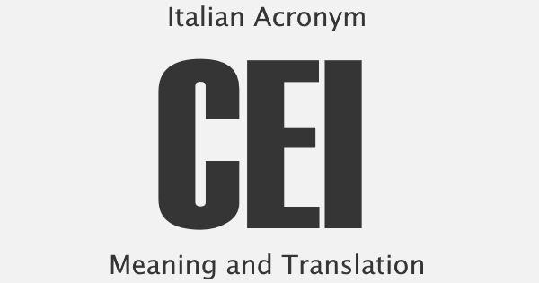 CEI Acronym Meaning