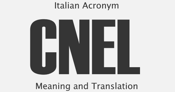 CNEL Acronym Meaning