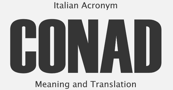 CONAD Acronym Meaning