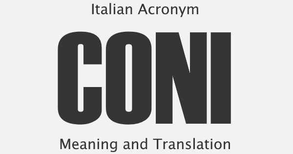 CONI Acronym Meaning