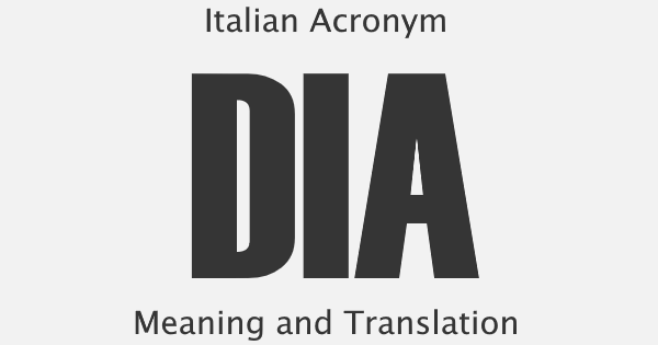 DIA Acronym Meaning