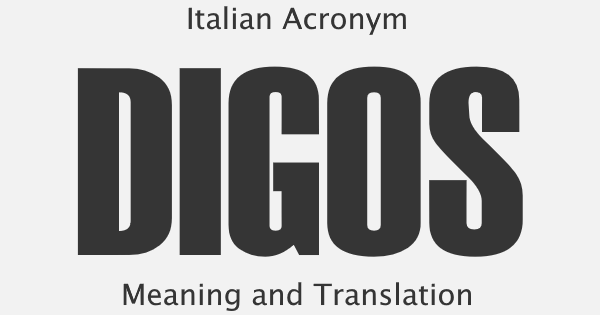 DIGOS Acronym Meaning
