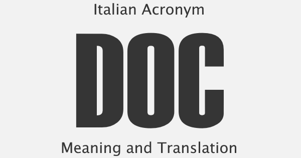 DOC Acronym Meaning