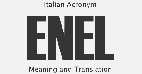 ENEL Acronym Meaning