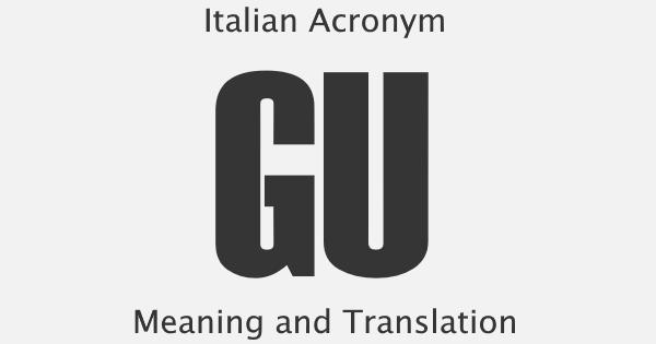 GU Acronym Meaning