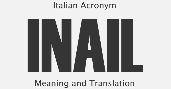 INAIL Acronym Meaning