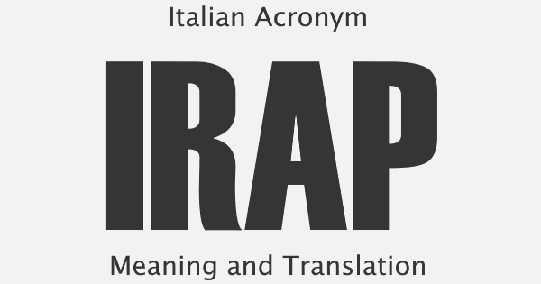 IRAP Acronym Meaning