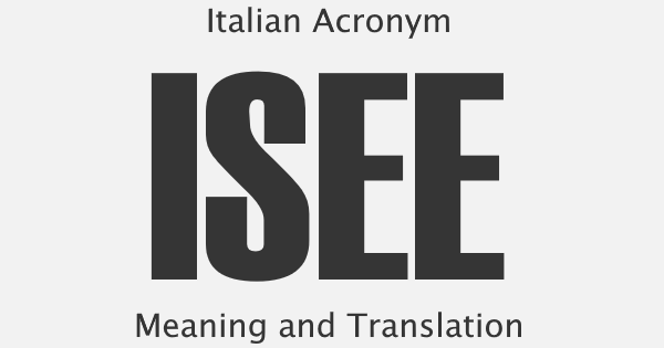 ISEE Acronym Meaning