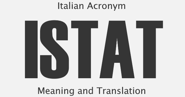 ISTAT Acronym Meaning