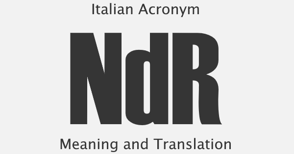 NDR Acronym Meaning