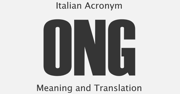 ONG Acronym Meaning