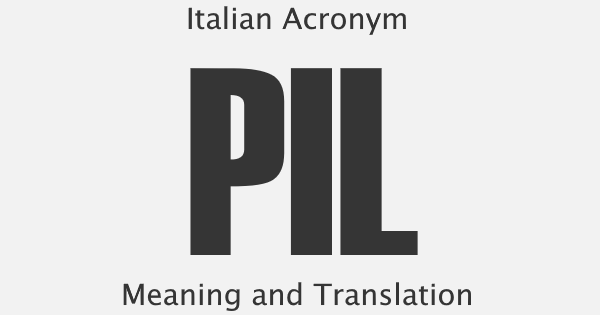 PIL Acronym Meaning