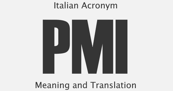 PMI Acronym Meaning