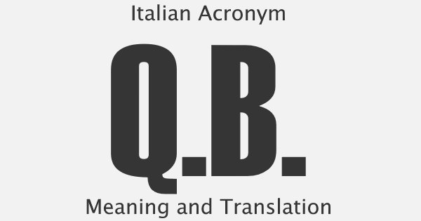 QB Acronym Meaning