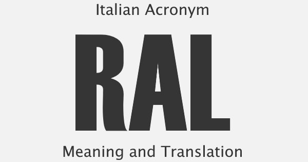 RAL Acronym Meaning