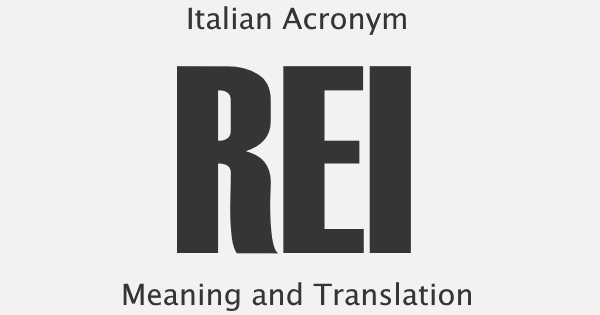REI Acronym Meaning
