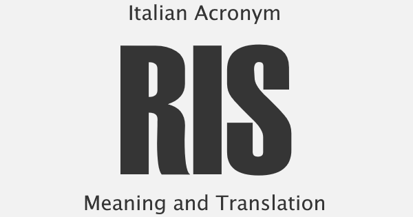 RIS Acronym Meaning