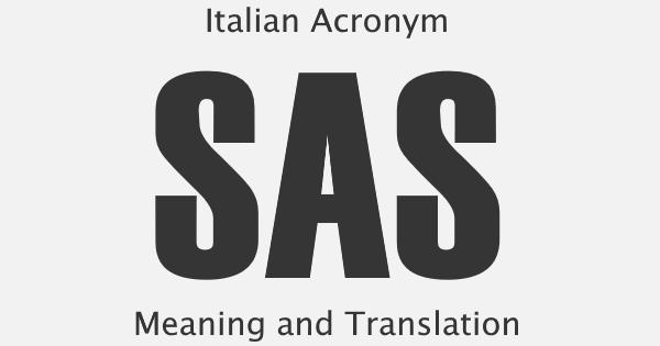 SAS Acronym Meaning