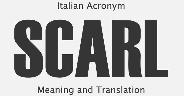 SCARL Acronym Meaning