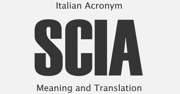 SCIA Acronym Meaning