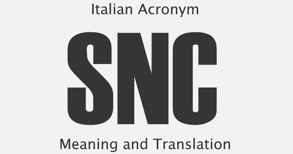SNC Acronym Meaning