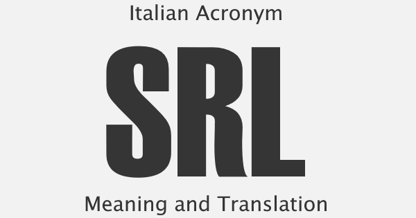 SRL Acronym Meaning