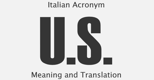 US Acronym Meaning