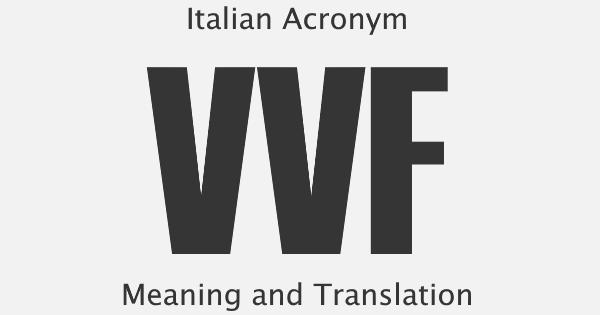 VVF Acronym Meaning