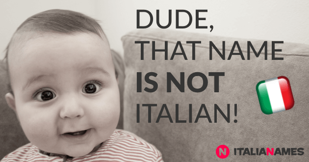 Wrong spelled Italian baby names